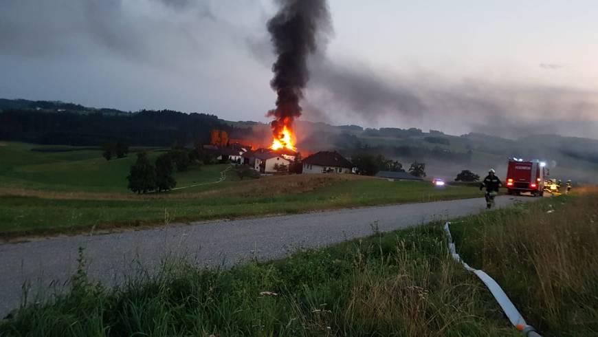 Brand landwirtschaftliches Objekt
